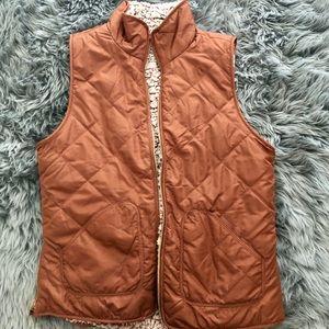 Burnt orange reversible wubby vest